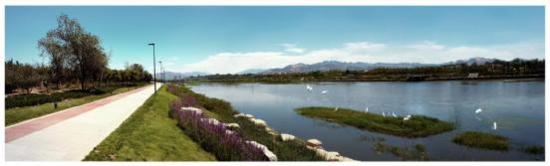 东瞰崂山西麓,南依白沙河,于城市之中,收藏一份山水情意.