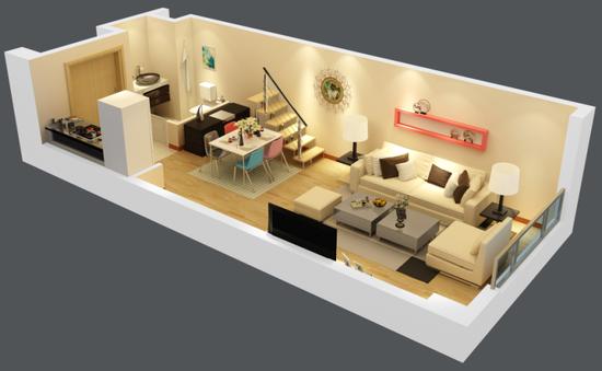 复式公寓装修_复式公寓装修图