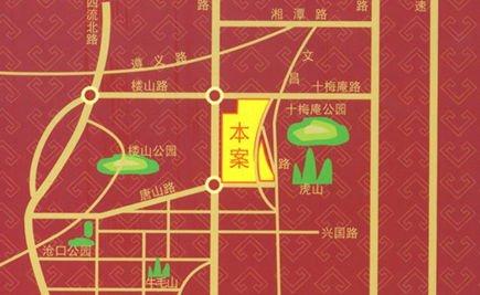 交通便利     中南世纪城位于李沧区重庆中路903号(唐山路以北