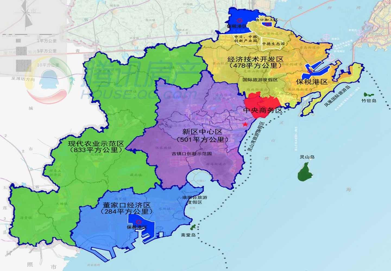 青岛西海岸新区:  2014年6月份,国务院批复了青岛西海岸成为第九个