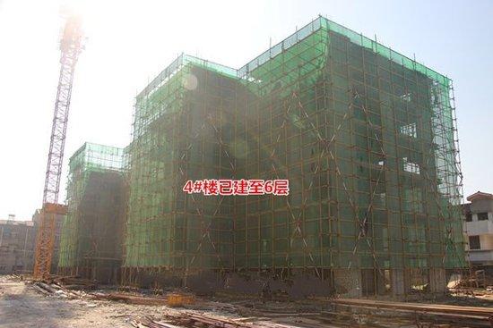 绿城熙园5月工程进度 4#楼已建至6层