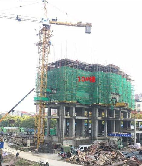 名筑仕嘉9月工程进度:3#楼已封顶