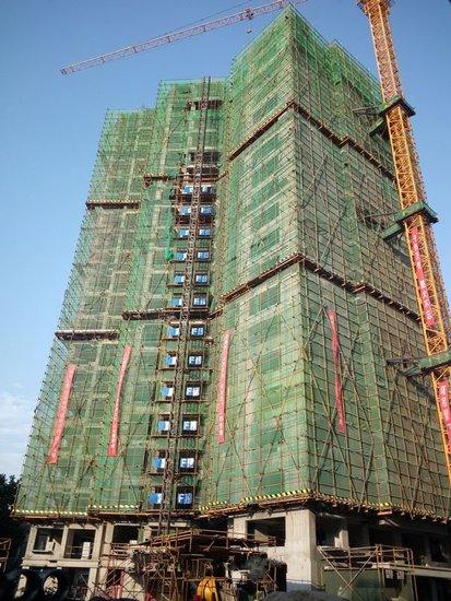 东景苑五月工程进度 已建至第二十层