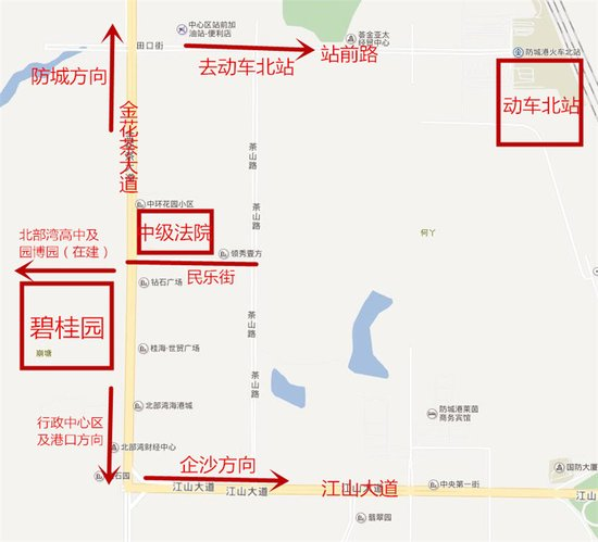 探访防城港碧桂园项目所在地