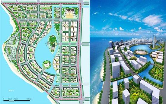 北海市廉州湾海湾新城概念规划图-被北海遗忘的 硅谷 海湾新城