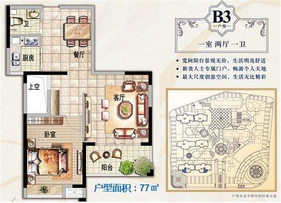 领第第1广场完美户型空间一房到四房任你选