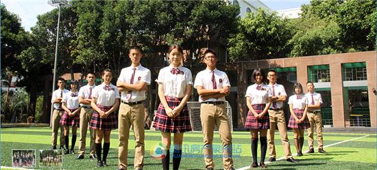 泉州外国语学院国际化的校服青春靓丽图片
