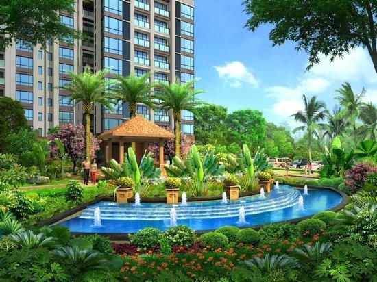 项目由3幢经典欧式建筑和双中庭花园组成,全面实行封闭式管理,出则