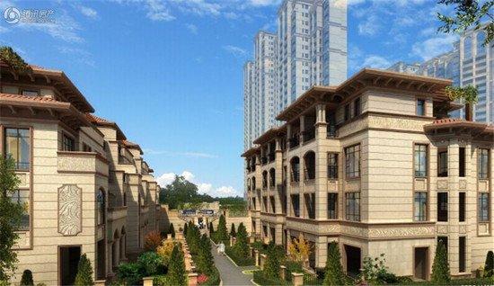 泉北中央城:预计5月中开盘 别墅均在封顶阶段