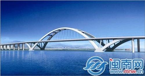 """展翅腾飞""""——中承式系杆拱桥-晋江两岸将建东海大桥 晋江至东海"""