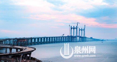 泉州湾跨海大桥明年上半年或全线通车