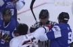 冰球比赛酿群殴 英达小儿子遭重拳打脸