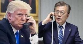 韩美总统通话:下一步或有可能进行朝美对话