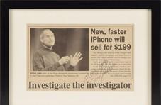 乔布斯三件遗物拍卖:求职简历或拍出30万元
