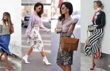 2018春季半身裙穿搭攻略, 这样穿最优雅chic
