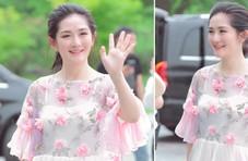 网友偶遇谢娜出席活动 身穿粉色纱裙似花仙子
