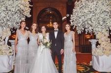 阿娇穿婚纱美成天仙,终于成为大家祝福的美新娘