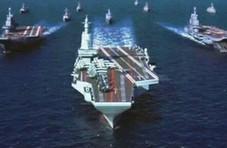 官方照片曝光下一代国产航母:配备3套弹射器