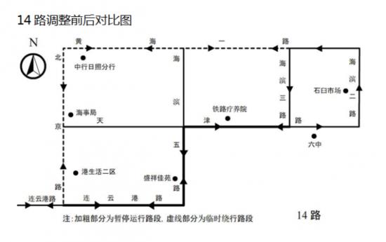 日照13条公交线路8日起调整部分运行路段