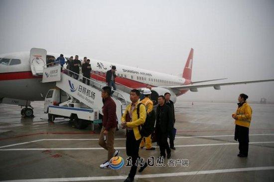 日照机场首航成功 日照人家门口坐飞机变成现实