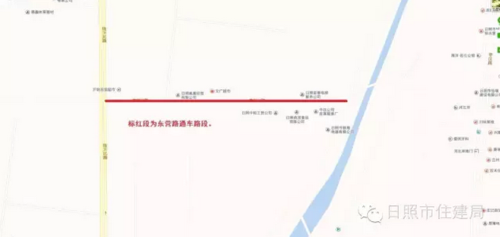 东营路沙墩河沿河路至临沂路段主路面建成通车