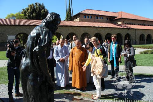 少林文化走进斯坦福大学图片