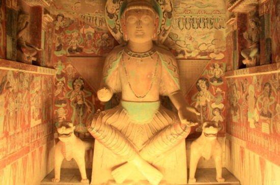 莫高窟第275窟弥勒佛坐像(资料图)