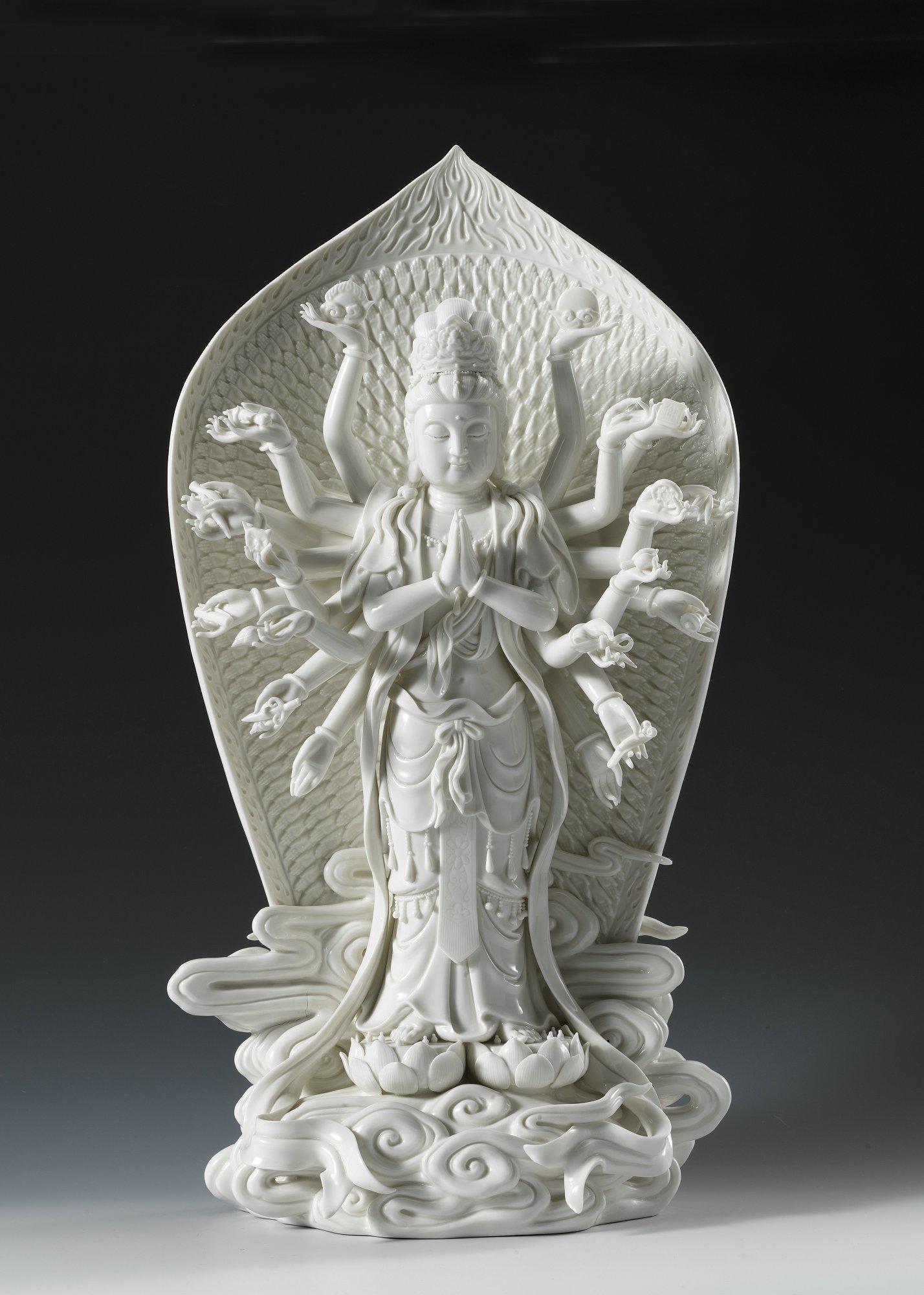 百态观音慈航普渡 德化白瓷传承千年文化