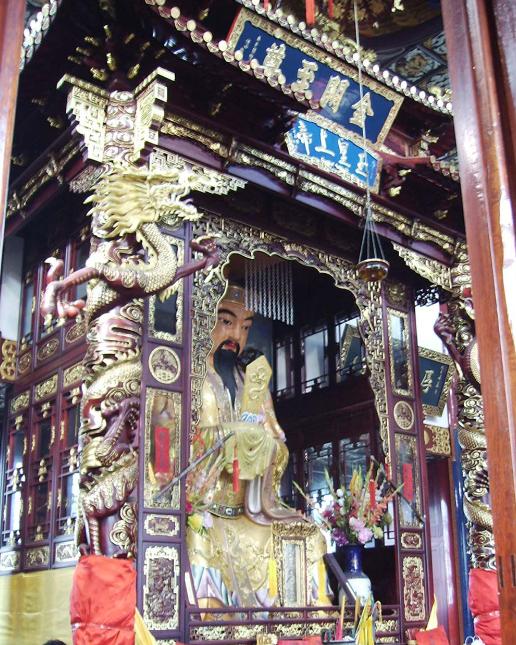 福星观大殿玉皇上帝像(摄影:韩松涛)