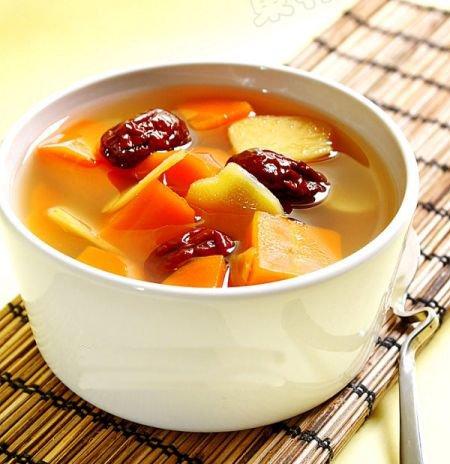 养生素食:生姜胡萝卜红枣汤