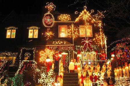 圣诞节彩灯装饰(资料图)