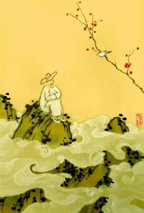 老树画画:世间吃饭 云上看鸟