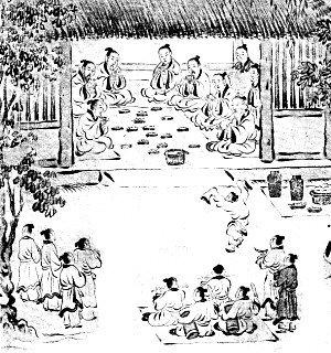 传统做菜简笔画-乡饮酒礼 敬贤尊老之礼