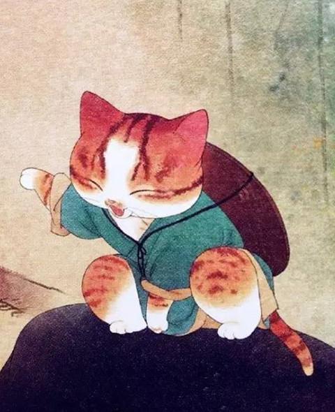 她将唐朝美女画成猫 萌化14万粉丝