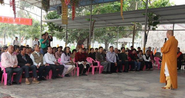 演出结束后,印顺大和尚,彭桂荣局长,杜欣能局长,美兰区统战部黎琼林图片