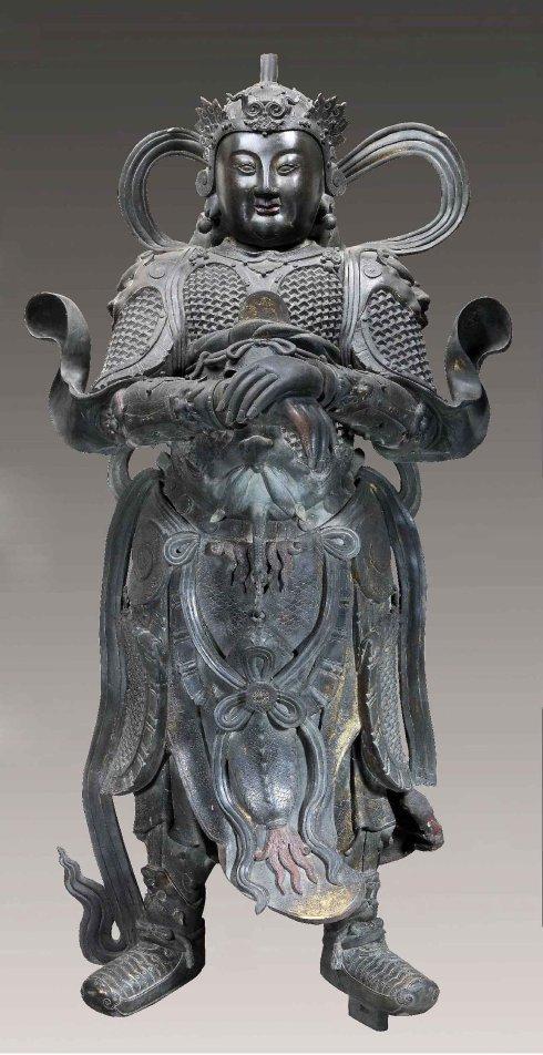 北京故宫藏品 明代铜韦陀像