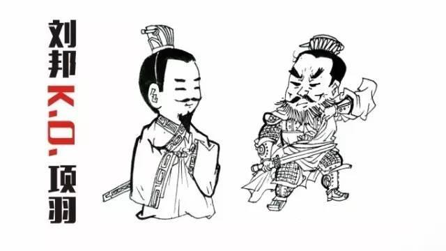 漫画:刘邦与项羽(资料图 图源网络)图片