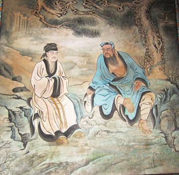 道教壁画的精华 《钟离权度吕洞宾图》