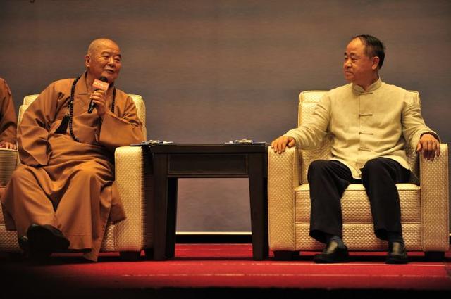 莫言:今生不能落发为僧 但会多读佛典与佛结缘
