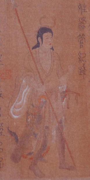 【唐】梁令瓒《五星二十八宿神形图·房星》(日本大阪市立美术馆图片