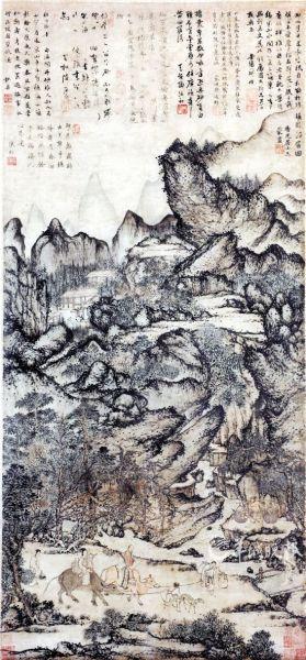 王蒙(1308-1385),元代画家.字叔明图片