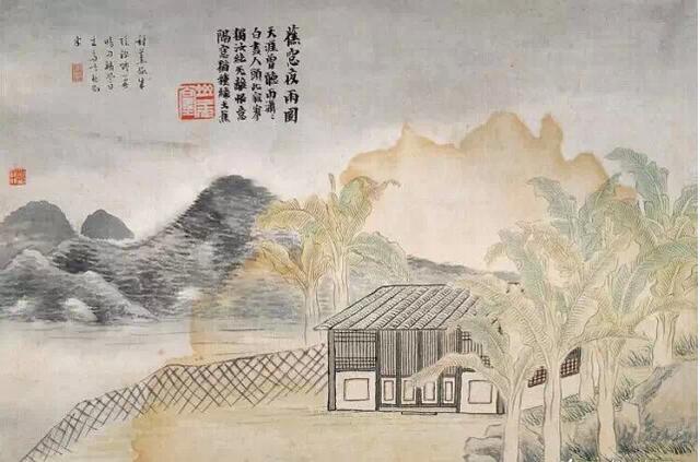蕉窗夜雨(图源网络)