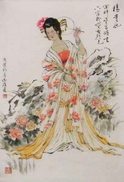 古代宫装手绘美女