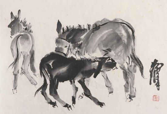 著名中国画画家黄胄图片