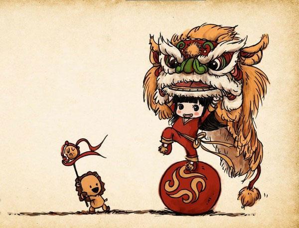 舞狮头简笔画-舞狮的来历
