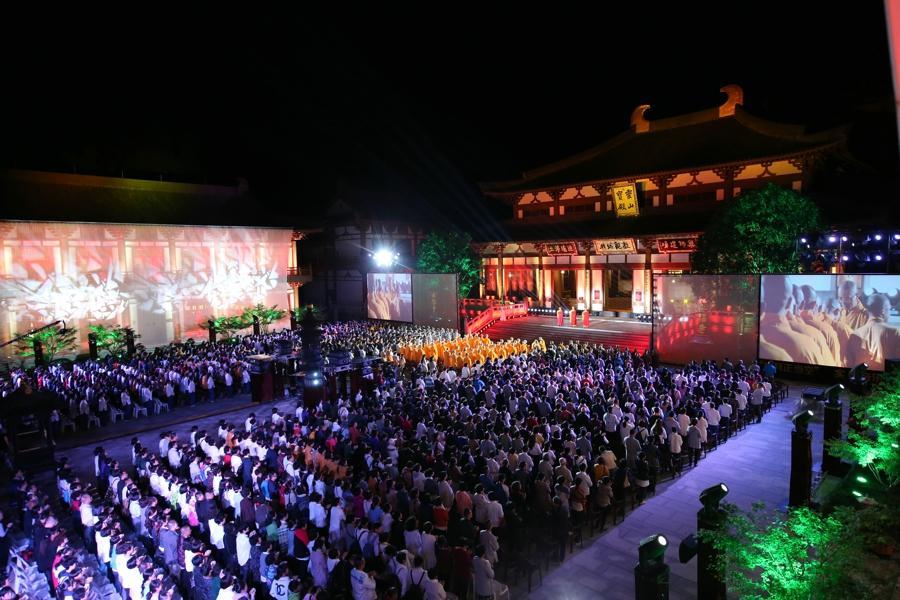 佛乐盛宴:天圣山安福寺第二届药师文化节实景音乐