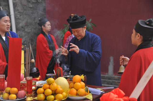 武汉长春观举行真武殿奠基仪式
