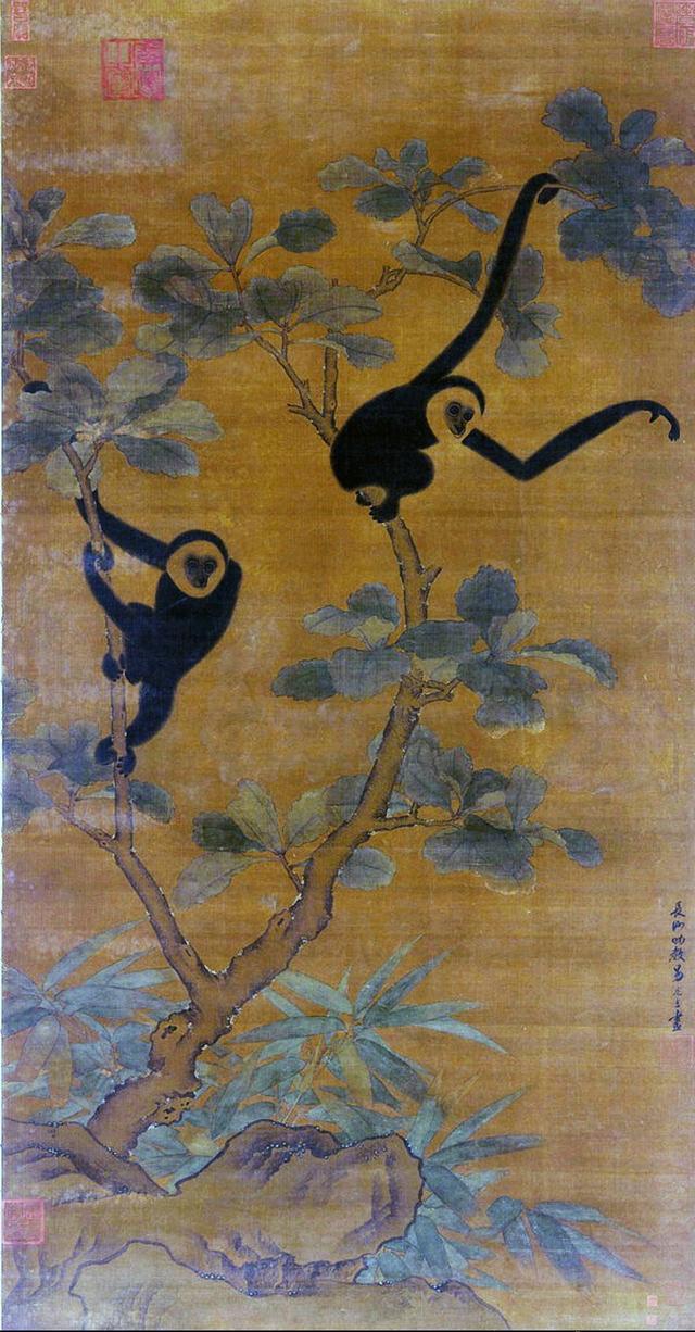 《宣和画谱》著录御府所藏其作品有《牡丹鹁鸽图》,《梨花山鹧图》