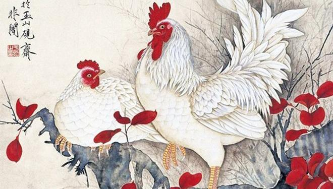 咏鸡诗10首 雄鸡图10幅:雄鸡一声天下白 大吉大利!
