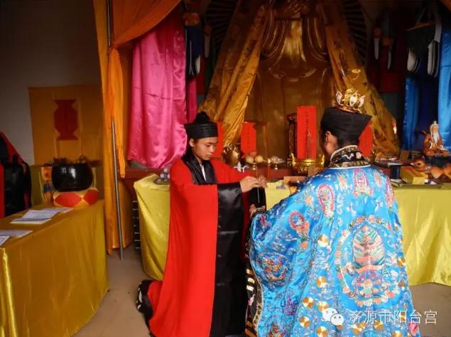 济源长春观举行山门揭牌仪式和祈福法会